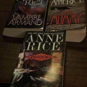 3 Anne Rice paperback books